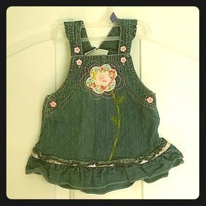 Girls koala baby Jean Dress Size 6-9MOS